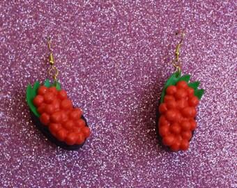 Salmon Roe Earrings