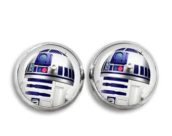 R2D2 Stud Earrings R2D2 Earrings Fandom Jewelry Star Wars Cosplay Fangirl Fanboy