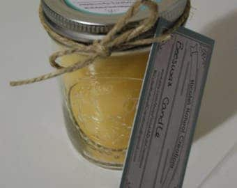 8oz 100% Natural Beeswax Candle