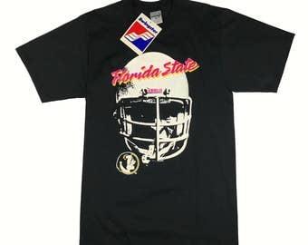 NWT VTG 90s FSU Florida State Football Helmet Swingster T-shirt - M Deadstock