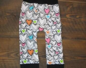 Rolling pants salty ' love * multicolor heart *.