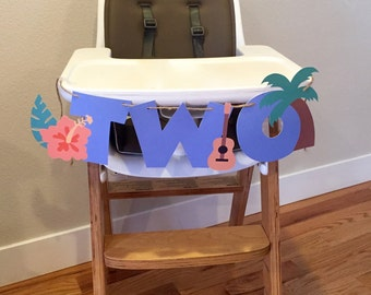 Luau High Chair Banner