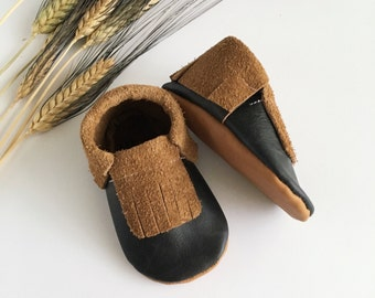 Mahogany Leather Moccasins // Moccasins // Moccs // Baby Moccasins // Baby Shoes