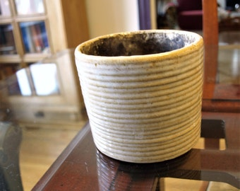 Early Zanesville 1930's No. 4008 1/2 Homespun Sand Colored Salt Glazed Small Stoneware Pottery – Rare