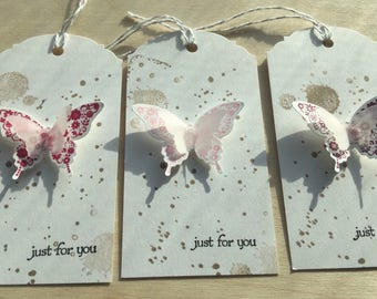 Butterfly Gift tags, Butterfly tags, Favor tags, Party Favor tags, Butterflies, Butterfly Thank You tags, Baby Shower, Wedding favors