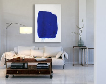 Blue Minimalist Painting / Abstract Art / Modern Art / Contemporary Art / Oversized Blue Painting / Extra Large Art