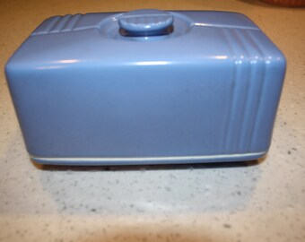 Vintage Hall Covered Butter dish/ Blue