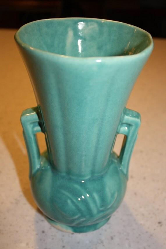 Mccoy Vintage Vase Green