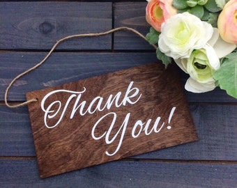Thank You Wedding Sign - Wedding Wood Sign - Rustic Wedding Sign