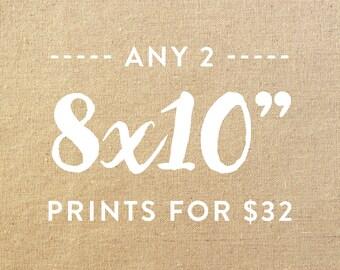 "Any 2 8x10"" Giclée Art Prints"