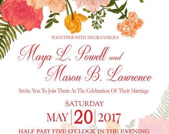 Spring Floral's Wedding Invitation Set