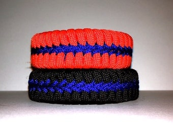 Paracord Bracelet, Fishtail Paracord Bracelet with Stitching, Woven Bracelet, Paracord