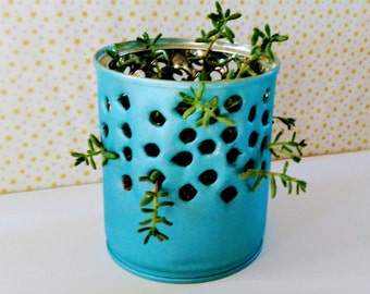 PDF INSTRUCTIONS DIY plant pot - from metal or tin can / coffee can