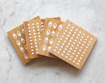 Rani White Birch Coasters
