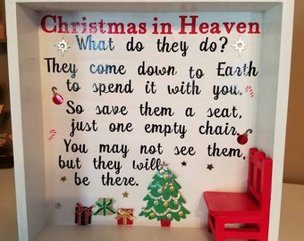 CHRISTMAS IN HEAVEN Shadow Box Holiday Decor