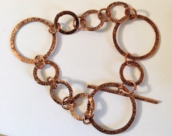 Copper Big and Small Link Bracelet