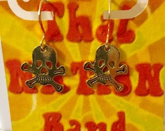 That NATION Band Skull and Bones Earrings