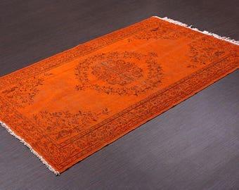 Turkish Vintage Overdyed Rug ,Carpet ,Anatolian Vintage area rug -wool rug-Handmade,187x298=5.57m2,6x10 ft