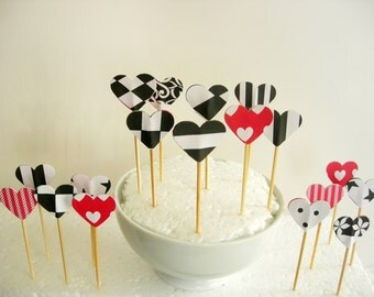 24 Cupcake toppers or dessert.