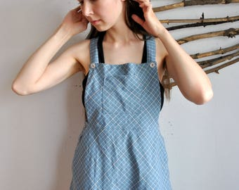 Little blue dress 1990s 1980s vintage womens smal