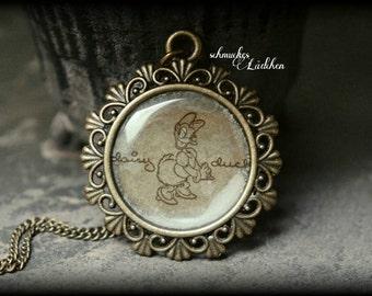 "Antique bronze Disney chain ""Daisy Duck"""