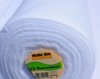 Thermolam volume fleece to sew a 114 cm wide lying in white