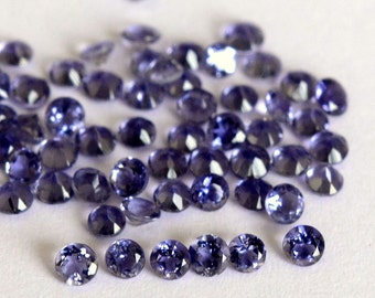 AAA Quality Natural Faceted Iolite Round Gemstone Loose Iolite Designer Jewelry Stone 10 Pieces lot 3mm Iolite Faceted Round Loose Gemstone