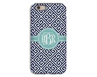 Greek Key iPhone 7 case, monogram iPhone 7 Plus case, 3D 6s plus case, monogram iPhone 6s case, iPhone 6 Plus case/6 case, 3D iPhone SE case