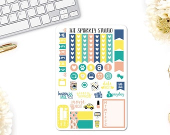 Sunny Days Functional Sheet Planner Stickers