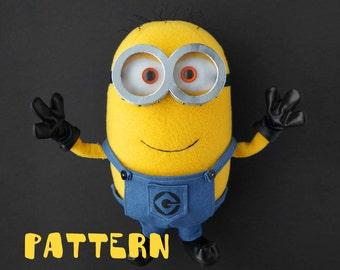 Minion sewing toy pattern, DIY soft toy pattern