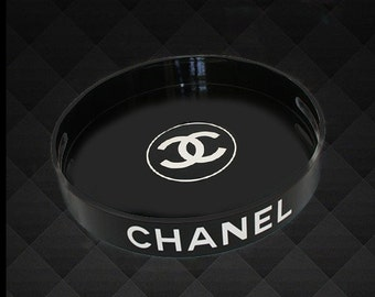 Round Black C Tray