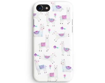 Watercolor baby llamas - iPhone 7 case, Samsung Galaxy S7 case, iPhone 6, iPhone 7 plus, iPhone SE, iPhone 5S, 1C114A