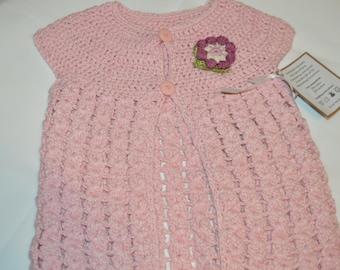3 - 4 Years Old Girls' Light Pink Cardigan