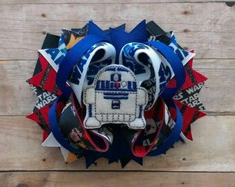 R2D2 Star Wars Stacked Hair Bow