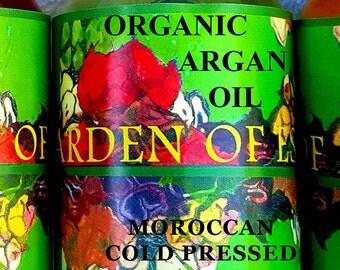 Organic Argan Oil UNREFINED RAW Cold Pressed Moroccan Argan Oil Carrier Oil, Massage Oil, Facial Oil, Body Oil, Hair Oil