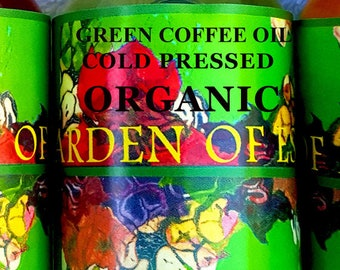 ORGANIC Green Coffee Bean Oil UNREFINED Cold Pressed Carrier Oil for Weight Loss, Cellulite, Facial Lines, Eye Bags, Edible Green Coffee Oil