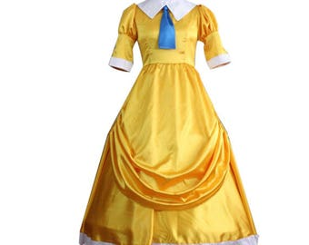 Tarzan Jane Porter Cosplay Costume Dresses