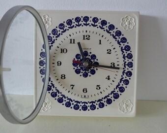 Mauthe Wall clock Küchenuhr ceramique Original 60s Vintage clock never used neu original packing