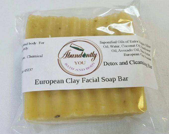European Clay Facial Soap Bar | Natural