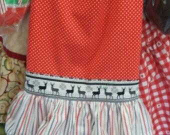 Ruffled hostess apron