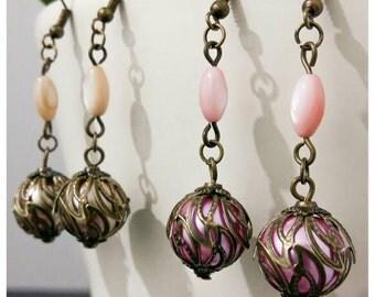 Sale~Vintage Inspired Dangly Earrings~MOP