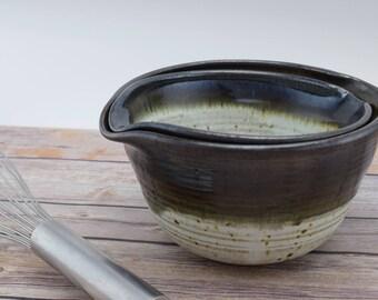 Handmade Ceramic Bowls, Ceramic Mixing Bowl, Pottery Bowl, Nesting Bowls, Batter Bowls, Serving Bowls, Pouring Bowls, Gift Idea