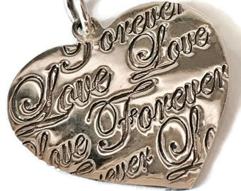 Sterling silver heart pendant, 925 sterling silver/free sterling silver necklace