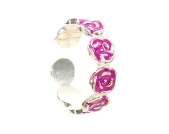 Sterling Silver Rose Design Toe Ring