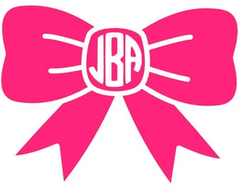 Custom Bow Monogram Decal