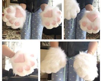 Fursuit Non Foam Dog/Cat Solid Color Paws