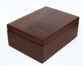 Jewelry box gift box solid Acacia