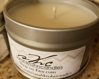 Vanilla Hazelnut Handcrafted Scented Soy Wax Candles 6 oz Candle Tin BESTSELLER