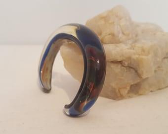 ON SALE, Glass Cuff Bracelet, Glass Bracelet, Glass Cuff, Murano Glass Bracelet, Murano Jewelry, Murano Cuff, MML Bracelet, Vintage Jewelry