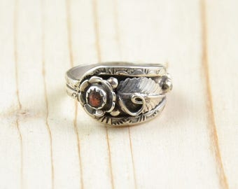 Ring Native American Navajo Silver 925, wife, pen, coral, size 55